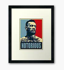 Conor McGregor - Nortorious Framed Print