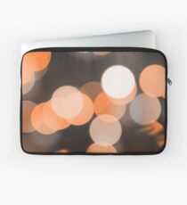 Bubbles of Light  Orange Laptop Sleeve