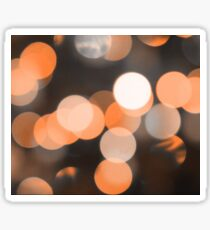 Bubbles of Light  Orange Sticker