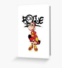"Robobot ""Off to Mars"" / Robo-Skater / Rogue Robot Greeting Card"