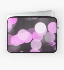 Bubbles of Light  Pink Laptop Sleeve