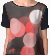Bubbles of Light  Red Chiffon Top