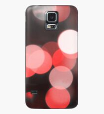 Bubbles of Light  Red Case/Skin for Samsung Galaxy
