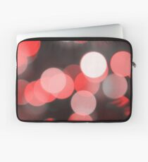 Bubbles of Light  Red Laptop Sleeve
