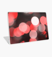 Bubbles of Light  Red Laptop Skin