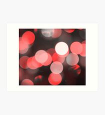 Bubbles of Light  Red Art Print