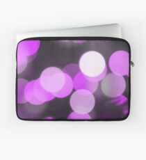 Bubbles of Light  Violet Laptop Sleeve