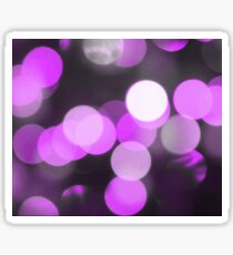 Bubbles of Light  Violet Sticker