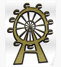 Ferris Wheel - London Eye Poster