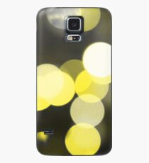 Bubbles of Light  Yellow Case/Skin for Samsung Galaxy