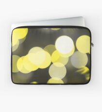 Bubbles of Light  Yellow Laptop Sleeve