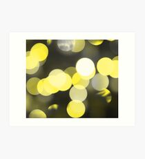 Bubbles of Light  Yellow Art Print