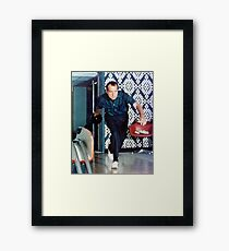 Richard Nixon Bowling Framed Print