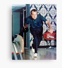 Richard Nixon Bowling Leinwanddruck