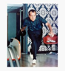 Richard Nixon Bowling Photographic Print