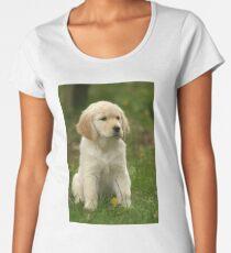 Golden Retriever! Puppy! Women's Premium T-Shirt