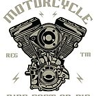 Custom Engine Motorcycle Ride Fast by StOmPbOX