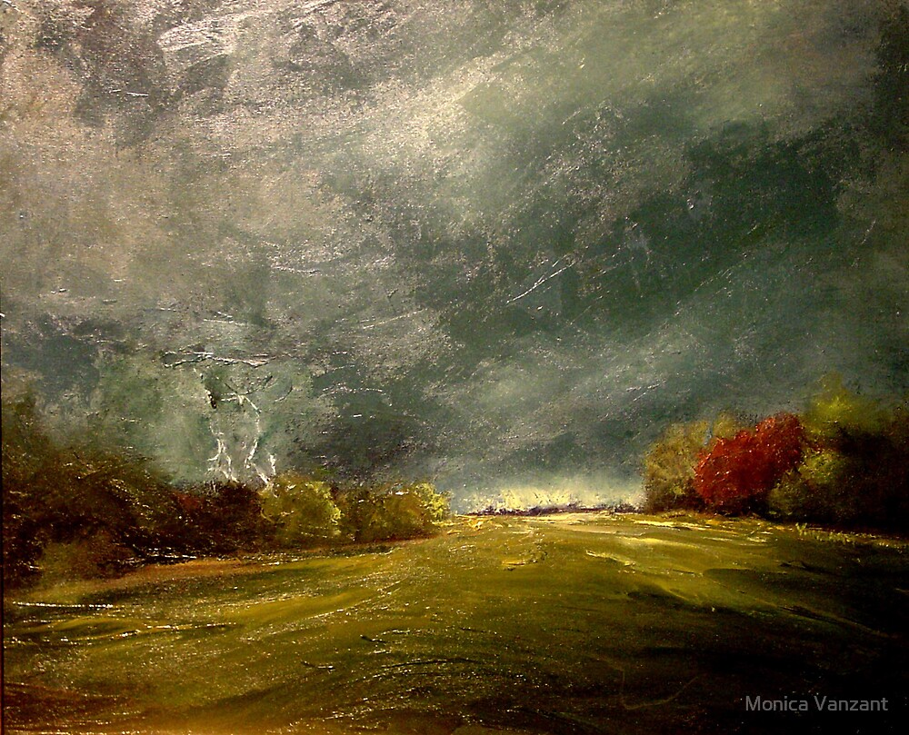 Pennington Airfield Before The Storm by Monica Vanzant