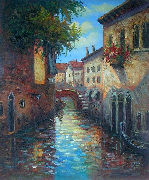 Venic oil paintings by sallydoupine