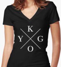 KYGO - White Women's Fitted V-Neck T-Shirt