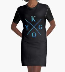 KYGO - Blue Graphic T-Shirt Dress