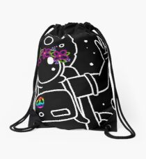 Come in Peace - White Drawstring Bag