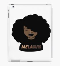 Melanin Afro Woman Shades Drippin Melanin Shirt, Melanin Poppin, Black Girl Magic iPad Case/Skin