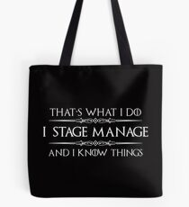 Stage Manager Gifts Tote Bag