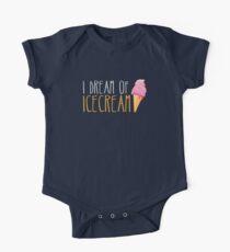 I dream of ICECREAM with ice cream cone One Piece - Short Sleeve