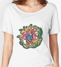 The Kelpie got a Rainbow make-over on white Relaxed Fit T-Shirt