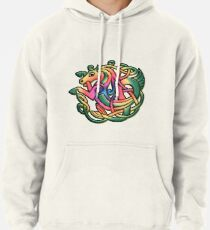 The Kelpie got a Rainbow make-over on white Pullover Hoodie