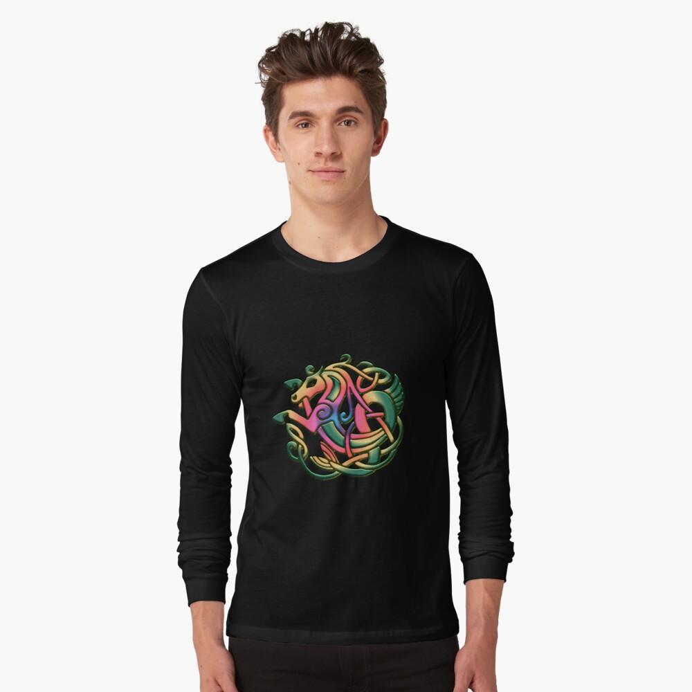 The Kelpie got a rainbow make-over. Black version Long Sleeve T-Shirt