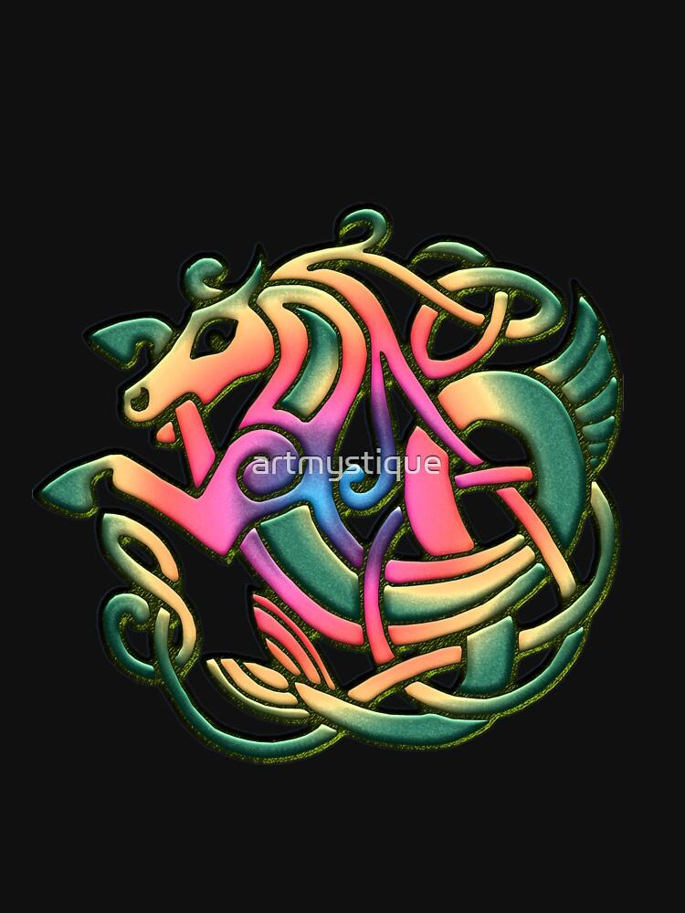 The Kelpie got a rainbow make-over. Black version by artmystique