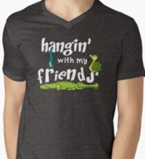 Hanging With My Reptile Friends Men's V-Neck T-Shirt