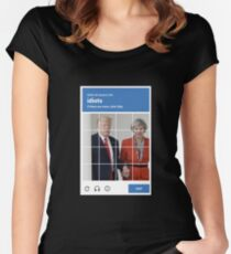 reCAPTCHA -- Donald Trump & Theresa May Women's Fitted Scoop T-Shirt