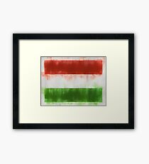 Hungary Flag Reworked No. 66, Series 1 Framed Print