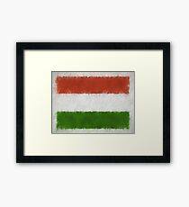 Hungary Flag Reworked No. 66, Series 4 Framed Print