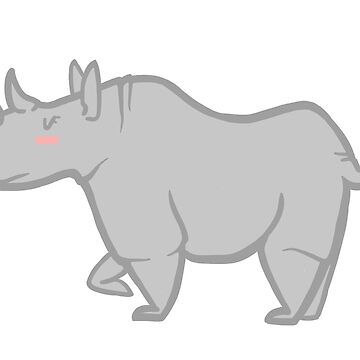 Cute rhino by MesmericSkyline