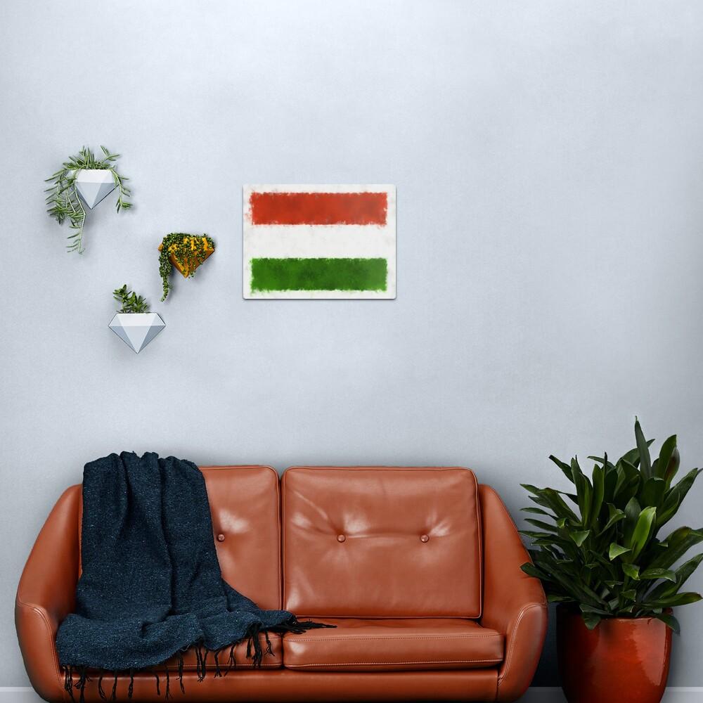 Hungary Flag Reworked No. 66, Series 5 Metal Print