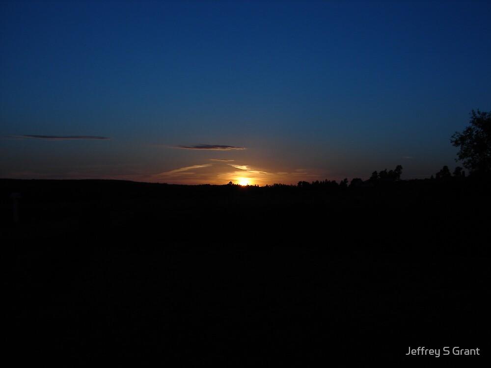 True Blue Sunset by Jeffrey S Grant