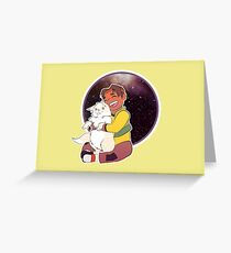 Hunk Voltron Yellow Paladin Greeting Card