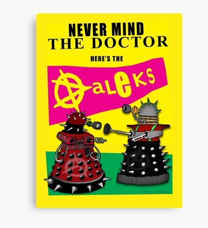 The Punk Daleks  Canvas Print