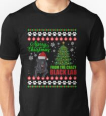 Merry Christmas From Black Lab Dog Ugly Sweater T Shirt T-Shirt