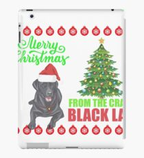 Merry Christmas From Black Lab Dog Ugly Sweater T Shirt iPad Case/Skin