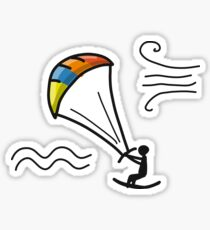 Kiteboarding, sketch for your design Sticker