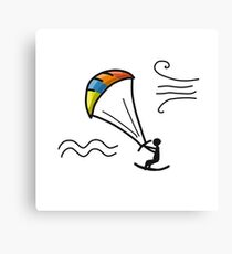 Kiteboarding, sketch for your design Canvas Print