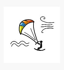 Kiteboarding, sketch for your design Photographic Print