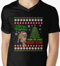 Merry Christmas From Great Dane Dog Ugly Sweater T Shirt T-Shirt