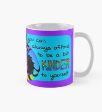 """You Can Always Afford to be a bit Kinder to Yourself"" Rainbow Cat Mug"