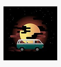 Bus Combi volkswagen into the moon Photographic Print